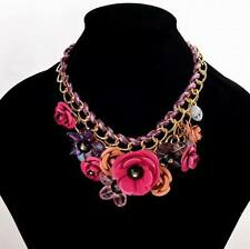 Short Red Flower Necklaces for Womens Chokers 2017 Enamel Floral Fashion Jewerly