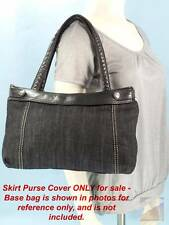 Thirty One 31 Black Denim Fitted Skirt Purse COVER ONLY $20 NWOT