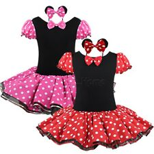 Kid Girl Baby Minnie Mouse Halloween Party Costume Polka Dots Ballet Tutu Dress