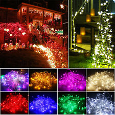 10M/20M 100/200 LED Christmas Wedding Party Xmas Outdoor Fairy String Light Lamp