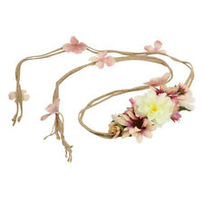 Boho Floral Flower Festival Wedding Forehead Head Hair Band Garland