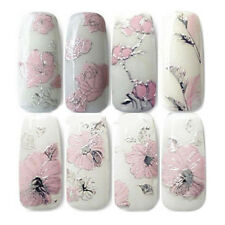 3D DIY EMBOSSED DESIGN NAIL ART STICKERS MANICURE NAIL DECAL TIPS  HOSPITABLE