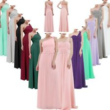 Women Floral Long Maxi Dress Bridesmaid Evening Party Chiffon Prom Gown Cocktail