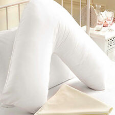 Luxury GOOSE FEATHER AND DOWN V - SHAPED SUPPORT ORTHOPAEDIC PILLOW