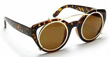 Round Cat Eye Sunglasses Women Vintage Designer Retro Celebrity Fashion