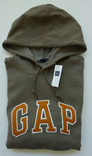 Mens GAP Logo BROWN HOODIE SWEATSHIRT Sizes XS - NWT
