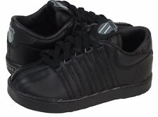New K-Swiss Classic 20144 Black Leather Infant Toddler Shoes