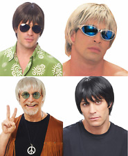 60'S 70'S 80'S ADULT MENS SURFER DUDE MALE COSTUME WIG SHORT STRAIGHT HAIR MODEL