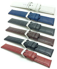 22 24mm, Mens Waterproof, Alligator Style Leather Watch Band Strap, Fits Citizen