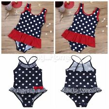 Toddler Baby Girl Kid Swimsuit Bathing Polka Dots Bikini Set Swimwear Beachwear