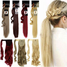 "17""+ Long Thick Clip in Wrap Around Pony Hair Extensions Ponytail Extension TM3"