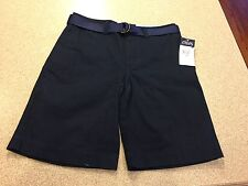NWT Chaps Boys Navy School Uniform Shorts Size 12 in Navy