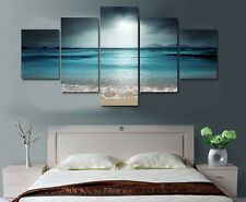 Beach Ocean Sea Sunset Modern Painting Poster Picture Canvas Wall Art Home Decor