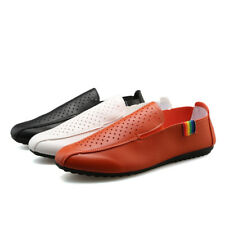 mens flats new fashion casual slip ons loafers hollow out breathable shoes size
