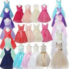 Flower Girls Princess Floral Dress Party Wedding Bridesmaid Pageant Formal Gown!