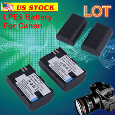 LP-E6 Battery for Canon EOS 6D 60D 7D 70D Mark II III DSLR Camera/Charger LOT OY