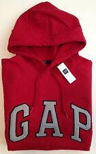 Mens GAP Logo RED HOODIE SWEATSHIRT Sizes XS, S, M, L, XL - NWT