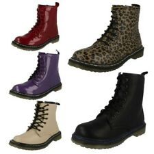 Girls Spot On Doc Martin Styled Boots