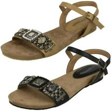 Ladies Leather Collection Flat Mule Sandals 'Style 019'