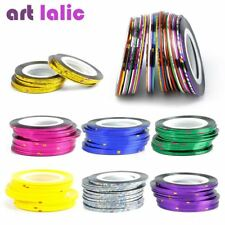 30Pcs 30 Multicolor Mixed Colors Rolls Striping Tape Line Nail Art Decoration St