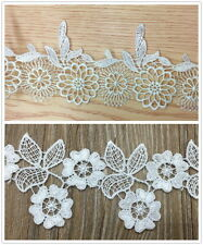 "2"" (55mm) Venise Flower Embroidered Lace Trim Appliques DIY Sewing Craft"