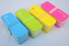 Candy Color Japanese Small Bento Lunch Box for Kids Girls Plastic Food Container