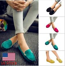 US Women Flats Slip On Shallow Driving Casual Party Loafers Moccasins Shoes Size