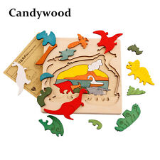 Candywood Wood Puzzle Animal Transport Multi-imensional 3D Jigsaw multilayer
