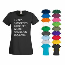 T Shirt Coffee Horses Dollars Horse Riding Jodhpur Breeches Boot Competition Top