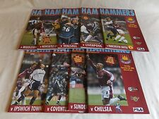 WEST HAM UNITED 2000/2001 HOME PROGRAMMES