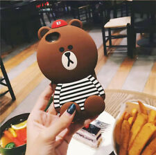 New 3D Silicone Disney Brown Bear Soft Case Phones Cover For iPhone/Samsung/Oppo