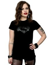 DC Comics Women's Batman v Superman Logo Print T-Shirt
