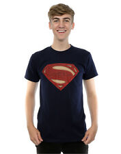 DC Comics Men's Superman Man of Steel Logo T-Shirt