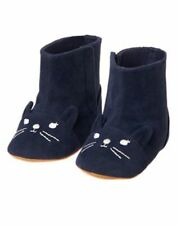 NWT Gymboree Little Pals Kitty Cat Boots Booties Crib Shoes Baby Girl 1,2,3,4