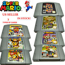 US Super Mario Kart 64 Mario Party1 2 3 Game Card Cartridges For Nintendo 64 N64
