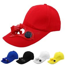5Color Summer Sport Outdoor Hat Cap with Solar Sun Power Cool Fan Cycling EW