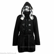 Winter Ladies Women's Plus Size Duffle Trench Coat Jacket With Hood Sizes 16-28