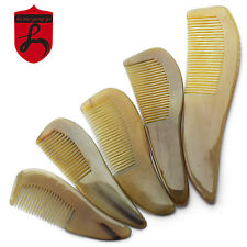 Traditional Craft Natural Anti Static Ox Horn Handhold Health Care Comb