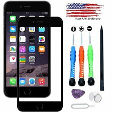 Black Outer Front Screen Glass Replacement/ Repair Tools Kit For Apple iPhone 7