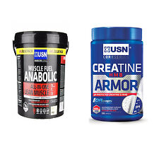 USN Muscle Fuel Anabolic 4kg And Creatine HMB Armour 120 Capsules