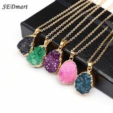 Natural Stone Irregular Gold Color Pendant Necklace For Women