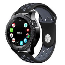 Gear S3 Sport Band KADES Soft Silicone Replacement Strap for Fron S Frontier Cla