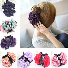 Fashion Lady Girl Rose Flower Hair Clamp Claw Clip Hair Accessory Delightful