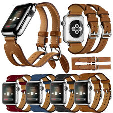 For Apple Watch Series 2 1 Double Buckle Cuff Leather Herme Band Bangle Strap