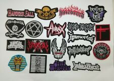 Punk Black Heavy Metal Patch Embroidered Sew Iron On Rock Band Music Logo Badge