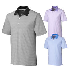 Cutter and Buck Cardinal Stripe Golf Polo