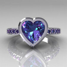 2.4ct Amethyst Fashion Jewelry 925 Silver Love Wedding Engagement Ring Size 6-10