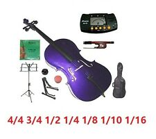 Merano New Student Purple Cello,Bag,Bow+2 Sets of Strings+2 Stands+Mute+Rosin
