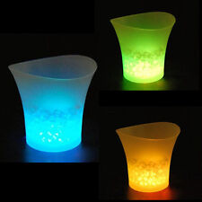5L LED Ice Bucket Color with Light Change Flashing Cool Bars Night Party XE