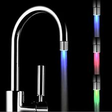 Glow Shower Temperature Sensor 3 Color Water-Tap Faucet LED Light Kitchen Bath